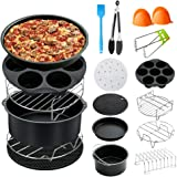 BLOODYRIPPA 8 Inch Air Fryer Accessories, Set of 12, Compatible with Philips Air Fryer, FDA Compliant, BPA Free, Dishwasher S