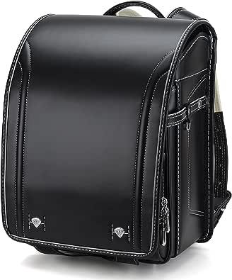 【Amazon限定ブランド】バオバブの願い たくさんの改良を加えて ランドセル 男の子 特典多数 高級合皮 大容量 ワンタッチロック 軽量 japanese schoolbag A4フラットファイル対応 小学生通学鞄 6年間保証付き シンプル ブッラク Bab-RnG096