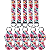 5 Pairs Vibrant Chapstick Holder Keychains, Neoprene Lipstick Holder Keychain Protective Cases with Wristlet Lanyard, Portabl