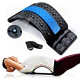 RushBack Back Stretcher for Pain Relief, Multi-Level Spine Stretcher with Magnetic Acupressure Points for Upper and Lower Bac