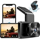 """AUTOWOEL Dual Dash Cam with WiFi GPS, Front and Rear Car Camera with 3"""" IPS Screen DVR, Dashboard Camera Full HD 1080P Drivin"""
