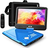 "SUNPIN 12.5"" Portable DVD Player for Car and Kids with Headrest Mount, 10.1"" HD Screen, 5 Hours Rechargeable Battery, Remote"