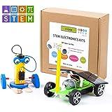 CY-ZAM DIY Robotics Science Kits STEM Toys for Kids, Electric Motor Assembly Solar Powered Car Kit, DIY ScienceEngineering E
