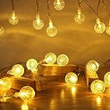 CTRIC フェアリーライト電飾led イルミネーションライト 3M20個LED 電池式 誕生日 飾りツリー トランスペアレントled電球庭 ライト屋外防水/新年/結婚式/誕生日/祝日/パーティ (Gold, 3)