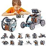 BOZTX 12-in-1 STEM Education DIY Solar Robot Toys Building Science Kits for Kids 10-12 Years Old Boys Birthday for 8 9 10 11