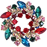 CUFTS Colours Crystal Brooch Pins Rhinestone Brooches Jewelry Women Girls