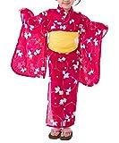 [キョウエツ] 浴衣セット こども 紅梅織り 2点セット(浴衣、兵児帯) gp ガールズ