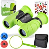 Monte Stivo Junior | Food-Grade Kids Binoculars 8X21 | Light & Compact Children Gift Set for Young discoverers Aged 4 to 12