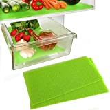 Dualplex Fruit & Veggie Life Extender Liner for Refrigerator Drawers (2 Pack) - Extends The Life of Your Produce & Prevents S