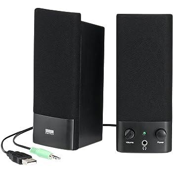 サンワサプライ USB電源マルチメディアスピーカー MM-SPL2NU