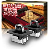 Tigeracing Tie Downs Anchors 2 Pieces A1 Ram 1500,2500,3500 Black+Silver