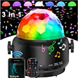 Disco Lights Bluetooth Speaker,USB Party Lights Sound Activated,3 in 1 Remote ControlHalloween Mini Disco Ball Light,LED Nig