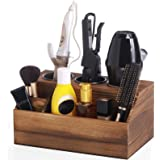 ROLOWAY Wooden Hair Tool Organizer - Blow Dryer Holder - Curling Iron Holder - Flat Iron Holder - Hair Styling Tools & Access
