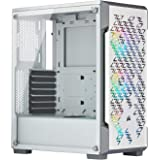 Corsair iCUE 220T RGB Airflow Mid-Tower PC Gaming Smart Case, Tempered Glass - White