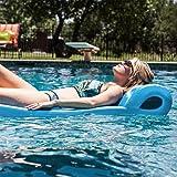 "Texas Recreation Ultimate Swimming Foam Pool Floating Mattress, Marina Blue, 2.25"" Thick"