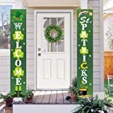 Dazonge St. Patrick's Day Decorations | Lucky St. Patty's Day Welcome Signs for Porch/Front Door/Home Decor | St. Patrick's D