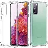 for Samsung Galaxy S20 FE 5G Case, Heavy Duty Soft Clear Crystal Flexible Ultra Slim TPU Bumper Cover