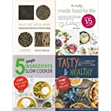 Salt fat acid heat [hardcover], medic food for life, 5 simple ingredients slow cooker, tasty and healthy 4 books collection s