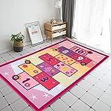 Booooom Jackson Hopscotch Kid Rug for Playroom,Kid's Room,Nursery and Classroom,40''x70'' Pink Kids Rugs Carpet for Girls,Edu