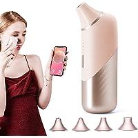 可視化毛穴吸引器 カメラ ワイヤレス 毛穴ケア 美顔器 20倍極細レンズ 4種類の吸引ヘッド 毛穴クリーナー 温冷ケア…
