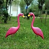 feileng フラミンゴ ガーデンオーナメント ガーデン置物 お庭の置物 可愛い 動物、植物のガーデンオブジェ キュー…