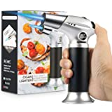 Blow Torch, Professional Kitchen Cooking Torch with Safety Lock Adjustable Flame Refillable Mini Blow Torch Lighter for Craft