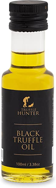 Black Truffle Oil (100ml) by TruffleHunter - Vegan, Vegetarian, Kosher & Gluten Free - Extra Virgin Olive Oil