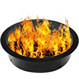 Doniks Fire Pit Ring 42 inches Outside / 36 inches Inside Diameter Heavy 2mm Metal Steel Ring-DIY fire Pit Ring Above or on T