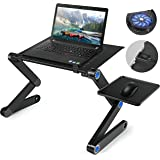 laptop stand,Standing desk,Laptop Desk, lapsdesk,Adjustable Laptop Stand For Bed and Sofa, Sitting With CPU Cooling Fans And