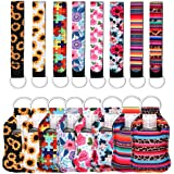 24 Pieces Keychain Holders Set, Wristlet Keychain with 30ml Reusable Empty Bottle (Style-1)