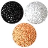 [RITALT] アイロンビーズ 単色 黒 白 肌色 3色セット 5mm 大容量 約12900粒 750g