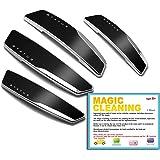 4 Pcs Status High Glossy Slim Door Edge Guards Bumper Protector Trim Guard Sticker Molding Black Color for Motors (Black)