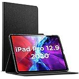 ESR iPad Pro 12.9 ケース 2020 手帳型 [Apple Pencil 2 ワイヤレス充電対応] オートスリープ/ウェイク ブックカバーデザイン 角度調節可能なスタンド アーバンプレミアムフォリオケース iPad 12.9インチ(2020)専用(ブラック)