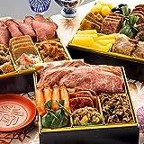 博多久松 厳選豪華オードブルおせち 肉づくし重 6.5寸3段重 全21品 おせち料理 お届け日(2021年12月31日)着
