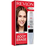 Revlon Root Erase Permanent Hair Color, At-Home Root Touchup Hair Dye with Applicator Brush for Multiple Use, 100% Gray Cover
