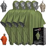 Emergency Blanket Poncho - Keeps You and Your Gear Dry and Warm | Survival Gear and Equipment for Outdoor Activity | Camping