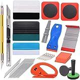 FOSHIO Vinyl Wrap Window Tint Tools Gift for Men, Plastic Scraper, Magnet Holder, Metal Plate, Corner Felt Squeegees, Vinyl K