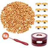 Sealing Wax, Paxcoo 312pcs Sealing Wax Kit with Wax Seal Beads, Wax Seal Warmer, Wax Spoon and Tealight Candles for Wax Stamp