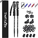 TheFitLife Nordic Walking Trekking Poles - 2 Packs with Antishock and Quick Lock System, Telescopic, Collapsible, Ultralight