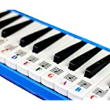 Piano Stickers for 32/37 Key Melodica-Transparent and Removable