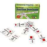 Learning Advantage The Original Fraction Dominoes - In Home Learning Fraction Game - 45 Dominoes - Math Manipulative for Kids