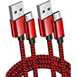 2 Pack 10Ft Micro USB Cables Fast Quick Charger USB A Male to Micro USB Braided Cable for Android/Samsung Galaxy S7/S6 Edge,