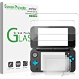 amFilm Nintendo 2DS XL Screen Protector Pack, [2 Glass Top, 4 PET Bottom] Screen Protectors Nintendo 2DS XL 2017 (6 Protector