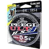 サンライン(SUNLINE) PEライン ソルティメイト PEエギ ULT HS4 180m 0.5号 3.9kg 4本 ホワイト・ピンク・ライトグリーン