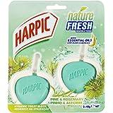 Harpic Fresh Hygienic Toilet Block Cleaner Pine & Rosemary, 80ml (Pack of 2)