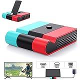 Switch ドック Aptezal スイッチ ドック 最新システム対応 (HDMI変換/TVモード/テーブルモード) 45W高出力対応 1080P高画質 放熱対策 スイッチ 充電スタンド 折りたたみ可 ニンテンド ポータブルUSBハブスタンド ジョ