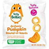 Baby Bellies Organic Round-a-bouts Baby Snack, Pumpkin, Pack of 6 Individual Snack Packs