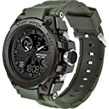 Men's Watches Digital Sports Military LED Stopwatch Alarm Outdoor Multifunction Quartz Large Face Electronics Wristwatch
