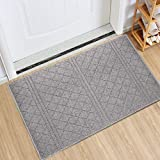 Indoor Doormat Absorbent Mats Latex Backing Non Slip Door Mat for Front Door Inside Floor Mud Dirt Trapper Mats Entrance Rug