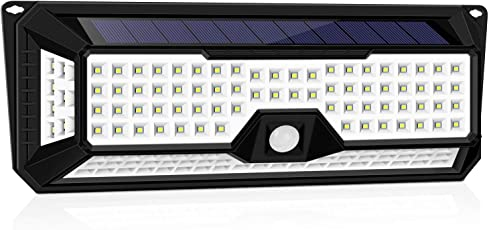 136LED センサーライト GOKU ソーラーライト 屋外 人感センサーライト ガーデンライト 防犯ライト 三つ点灯モード 超明るい IP65防水 2200mAh 18650電池2個内蔵 270°広角 太陽光発電 夜間自動点灯 玄関 駐車場 庭(最新版)